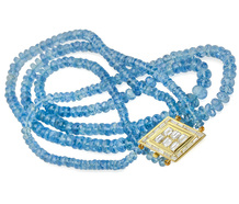Radiance: Aquamarine Bead Necklace
