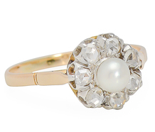 Prima Ballerina  - Diamond Pearl Ring