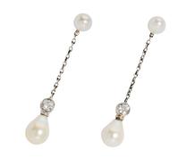 Natural Saltwater Pearl Earrings in Original Box