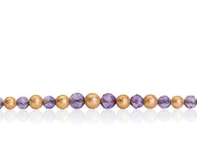 Amethyst and Gold Bead Necklace