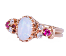 Rosy Glow - Opal Ruby Ring