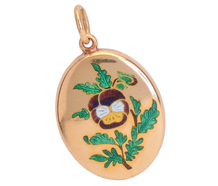 All Your Thoughts - Pansy Locket Pendant