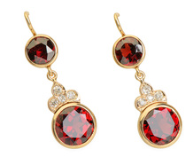 Divine Diamond Garnet Earrings