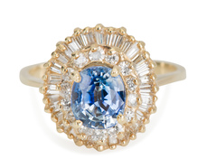 En Point: Sapphire Diamond Ballerina Ring