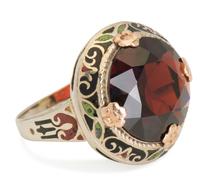 Color Wheel - Garnet Enameled Ring