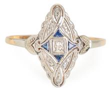 Infinity: Diamond Sapphire Ring