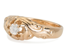 Swirling Flower Vintage Diamond Ring
