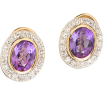Red Carpet Amethyst Diamond Earrings