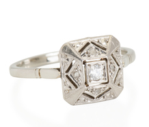 On the Square: Art Deco Diamond Ring