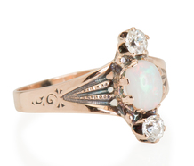 Sparkle & Flash: Diamond Opal Ring