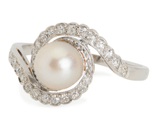 Unabashed Luxury: Pearl & Diamond Ring