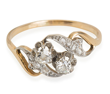 French Special: Diamond-Set Curvaceous Ring