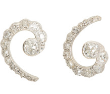 Diamond Swirl in a Fabulous Earring