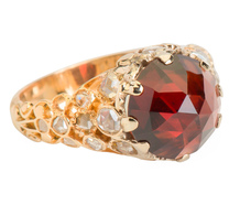High & Mighty: Garnet & Diamond Ring