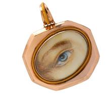 Georgian Lover's Eye Locket Pendant