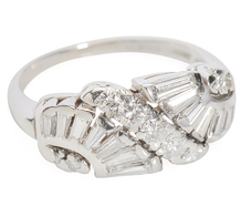 Sculptural Luxury: Diamond Platinum Ring