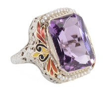 Color Splash - Amethyst Filigree Ring