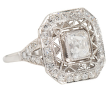 Magnifique! French Cut Diamond Ring