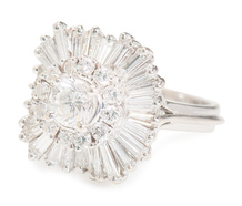 With Abandon: Ballerina Diamond Halo Ring