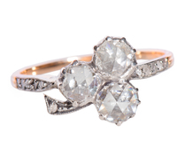 Meander in Clover - Rose Cut Diamond Ring