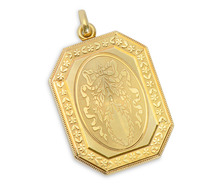 Garland & Bow Gold Locket Pendant