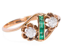 Earth Evocative - Diamond Emerald Ring