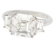 Incredible 4.01 ct Asscher Diamond Ring