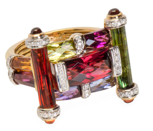 Colorburst Precious Gem & Diamond Ring
