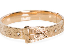 Buckle Bracelet with Diamonds