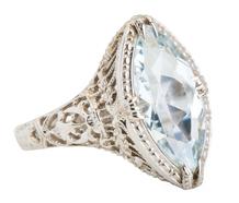 Serene Marquise Aquamarine Ring