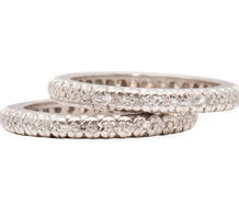 Matched Diamond Platinum Eternity Bands