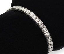 Linear Motion - Diamond Platinum Bracelet
