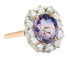 Rare Purple & Blue Sapphire Diamond Ring