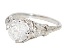 Impeccable Symmetry in a 2.54 ct. Diamond Ring