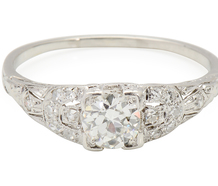 Favorite Wish - Vintage Diamond Platinum Ring