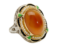 Recipe to Impress - Carnelian Pearl Ring