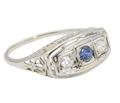 Forever in Bloom - Diamond Sapphire Ring