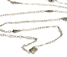 Art Nouveau Whimsy - Silver Long Chain
