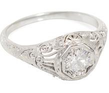 Filigree's Muse - Diamond Platinum Ring