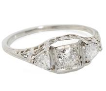 Homage - Three Diamond Engagement Ring