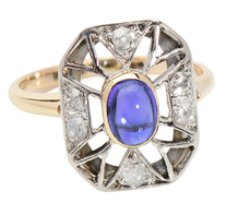 A Different Approach in a Sapphire Ring