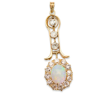 Color Play in an Antique Opal Pendant