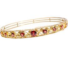 Garnet Garden in a Bangle Bracelet