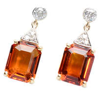 Citrine Chic - Diamond Gemstone Earrings