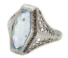 Serenity in a Vintage Aquamarine Ring