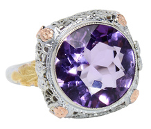 Luscious - Amethyst Filigree Ring