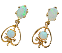 Dance of the White Opal Earrings