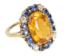 Impact - Citrine Sapphire Diamond Ring