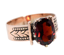 Victorian Sensibilities in a Garnet Ring