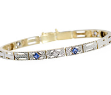 Opposition Composition - Diamond Sapphire Bracelet